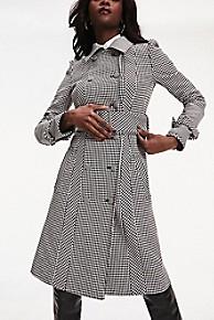 타미 힐피거 Tommy Hilfiger Zendaya Houndstooth Check Trench Coat,HOUNDSTOOTH