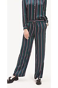 타미 힐피거 우먼 바지 Tommy Hilfiger Stripe Wide-Leg Pant,BLAZER GLOBAL STP