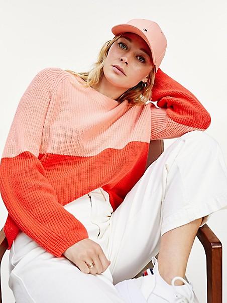 타미 힐피거 Tommy Hilfiger Organic Cotton Colorblock Sweater