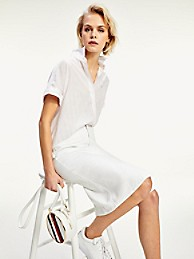 타미 힐피거 데님 펜슬 스커트 Tommy Hilfiger Denim Pencil Skirt,WHITE