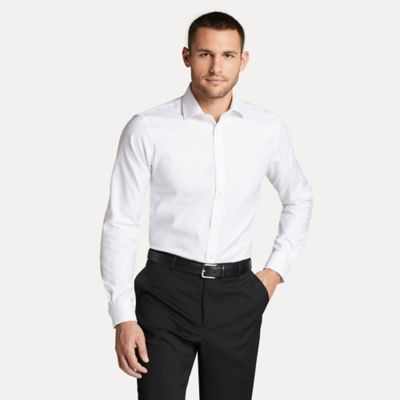 Men\\\'s Athletic Fit Essential Stretch Cotton Dress Shirt, White, - Tommy Hilfiger men\\\'s shirt. Our cotton dress shirts are defined by their smooth texture and lightweight feel.
