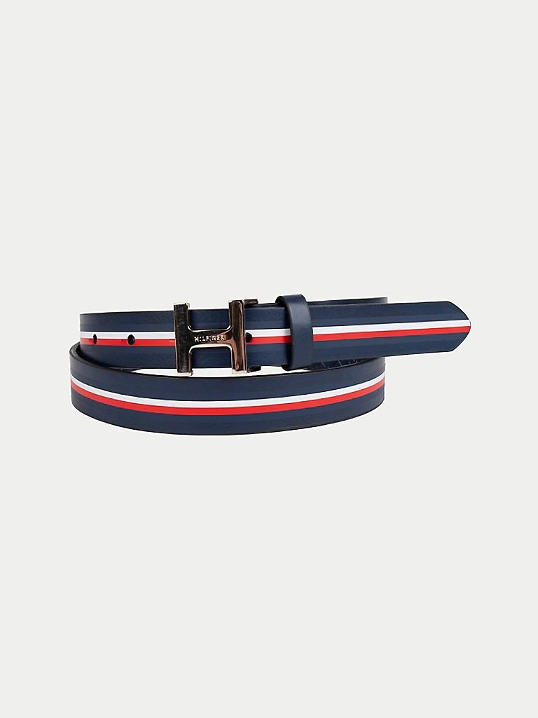 Signature Stripe H Buckle Belt
