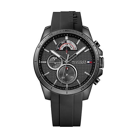 0e6440f90 Black Sport Watch With Silicone Strap | Tommy Hilfiger