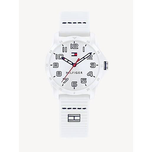 TH Kids White Watch With Silicone Strap