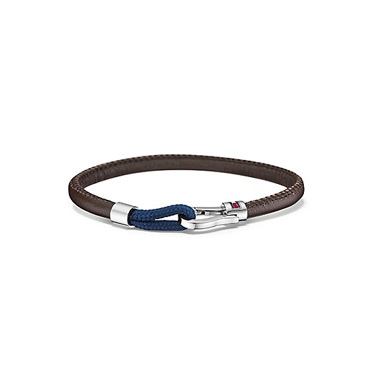 Leather Bracelet With Silver Clasp