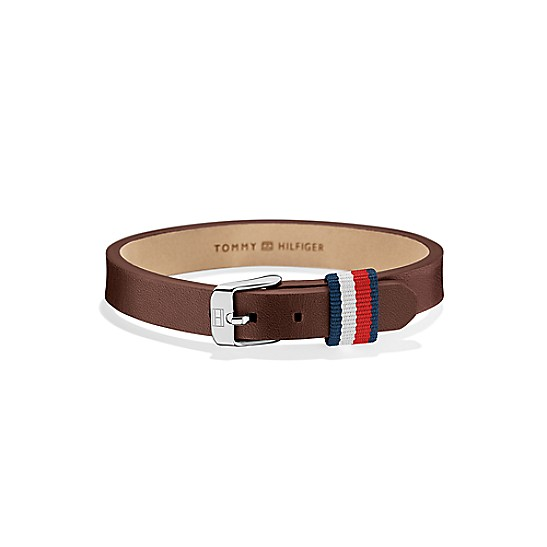 1d4ab9713bb00 Brown Leather Mini Bracelet | Tommy Hilfiger