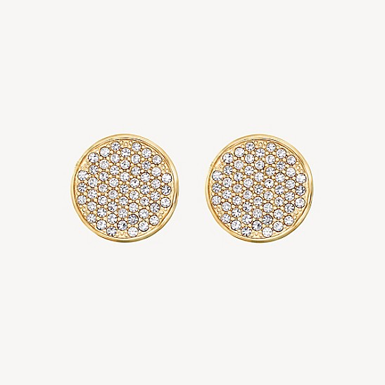 dd1c445d4e23b Icon Gold-Plated Crystal Stud Earring | Tommy Hilfiger