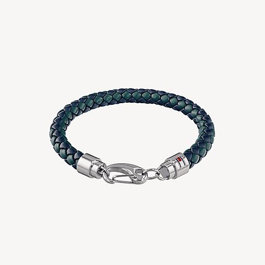 Navy Woven Leather Bracelet Tommy Hilfiger