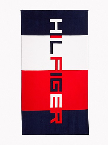 타미 힐피거 컬러블록 비치 타월 Tommy Hilfiger Hilfiger Colorblock Beach Towel,HILFIGER COLORBLOCK