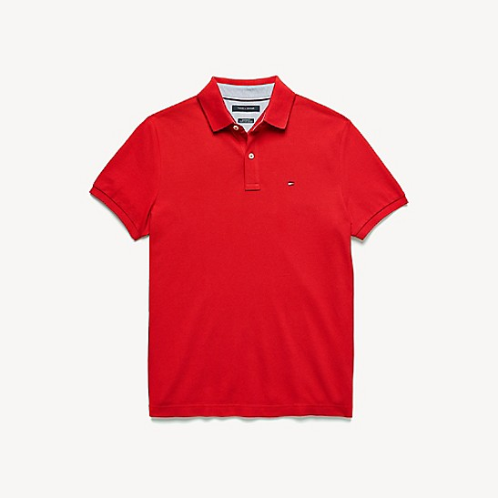 Custom Fit Essential Solid Polo | Tommy Hilfiger