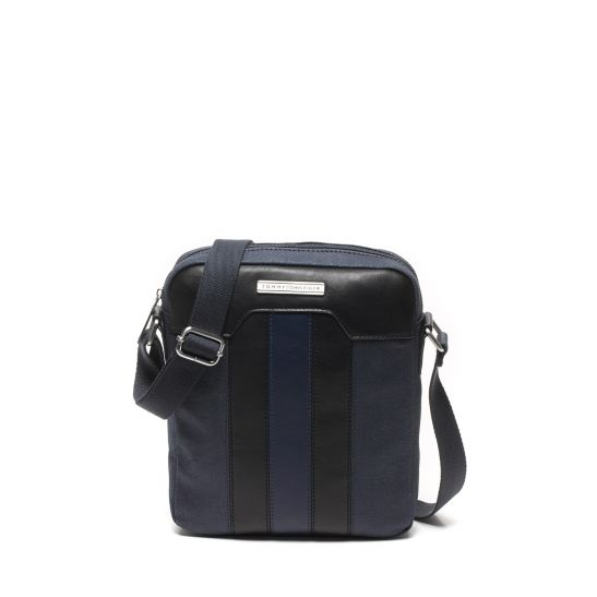 Contrast Strap Leather Pouch - Sales Up to -50% Tommy Hilfiger