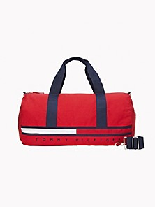 Tommy Hilfiger Mini Striped Duffle Bag With TH Patch