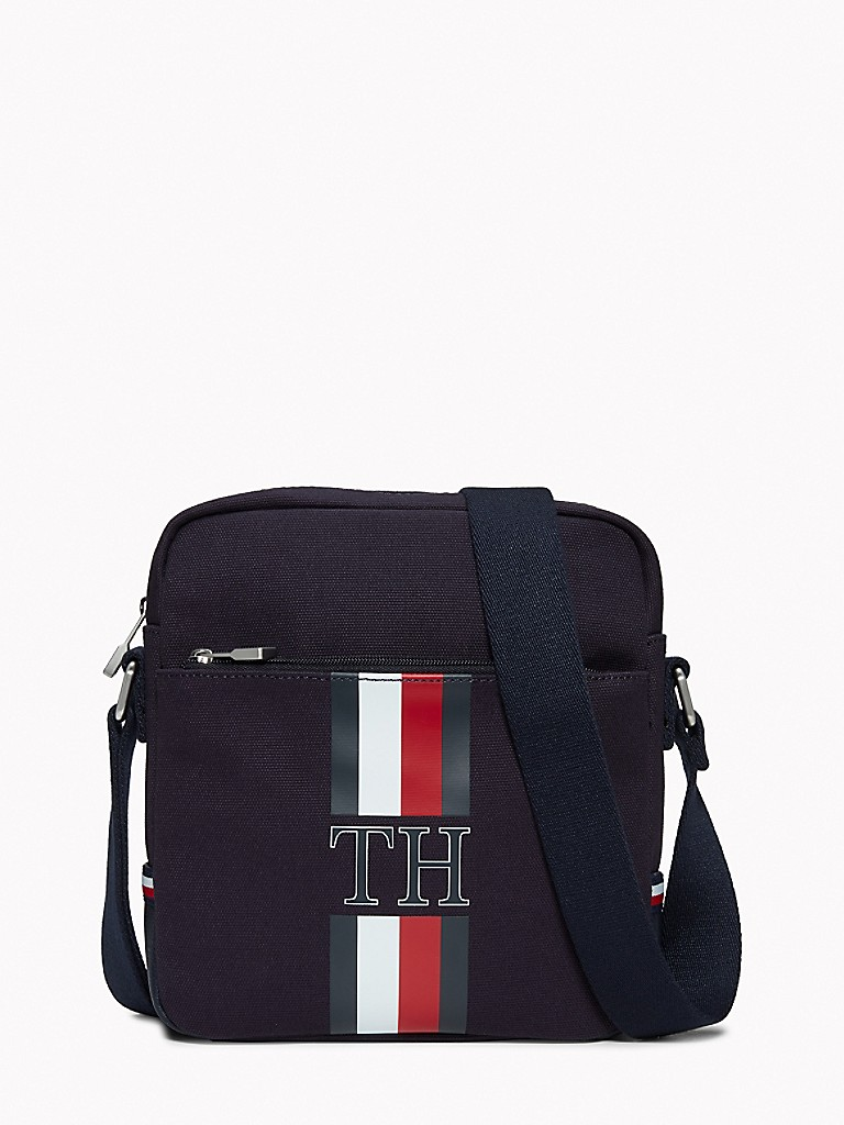 NEW Signature Stripe Reporter Bag