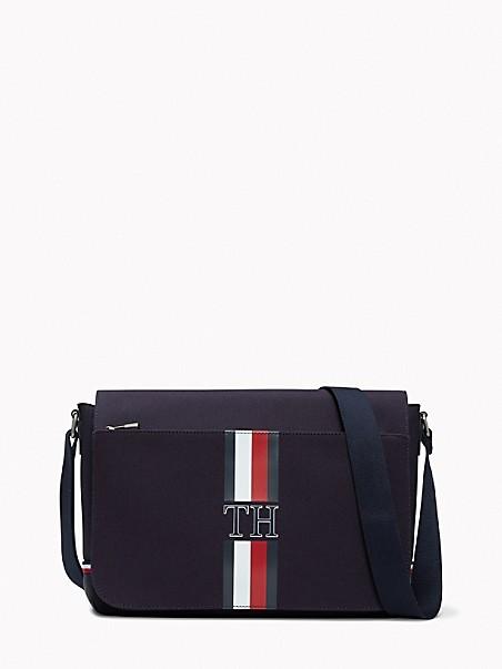 TOMMY HILFIGER Signature Stripe Messenger Bag