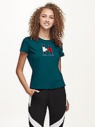 타미 힐피거 Tommy Hilfiger Philadelphia Eagles Flocked T-Shirt,GREEN/PHILADELPHIA EAGLES