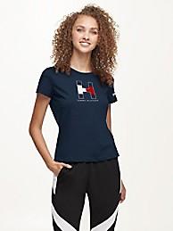 타미 힐피거 Tommy Hilfiger New England Patriots Flocked T-Shirt,NAVY/NEW ENGLAND PATRIOTS