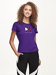 타미 힐피거 Tommy Hilfiger Minnesota Vikings Flocked T-Shirt,PURPLE/MINNESOTA VIKINGS