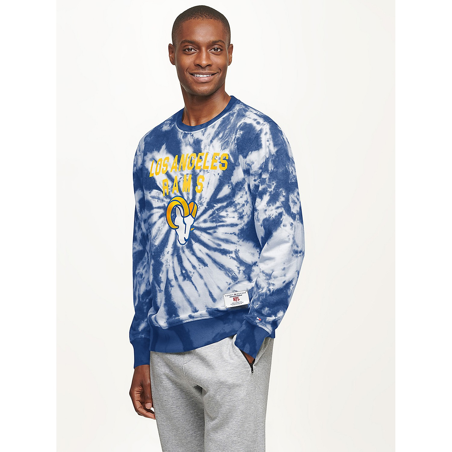 TOMMY HILFIGER Los Angeles Rams Tie-Dye Sweatshirt
