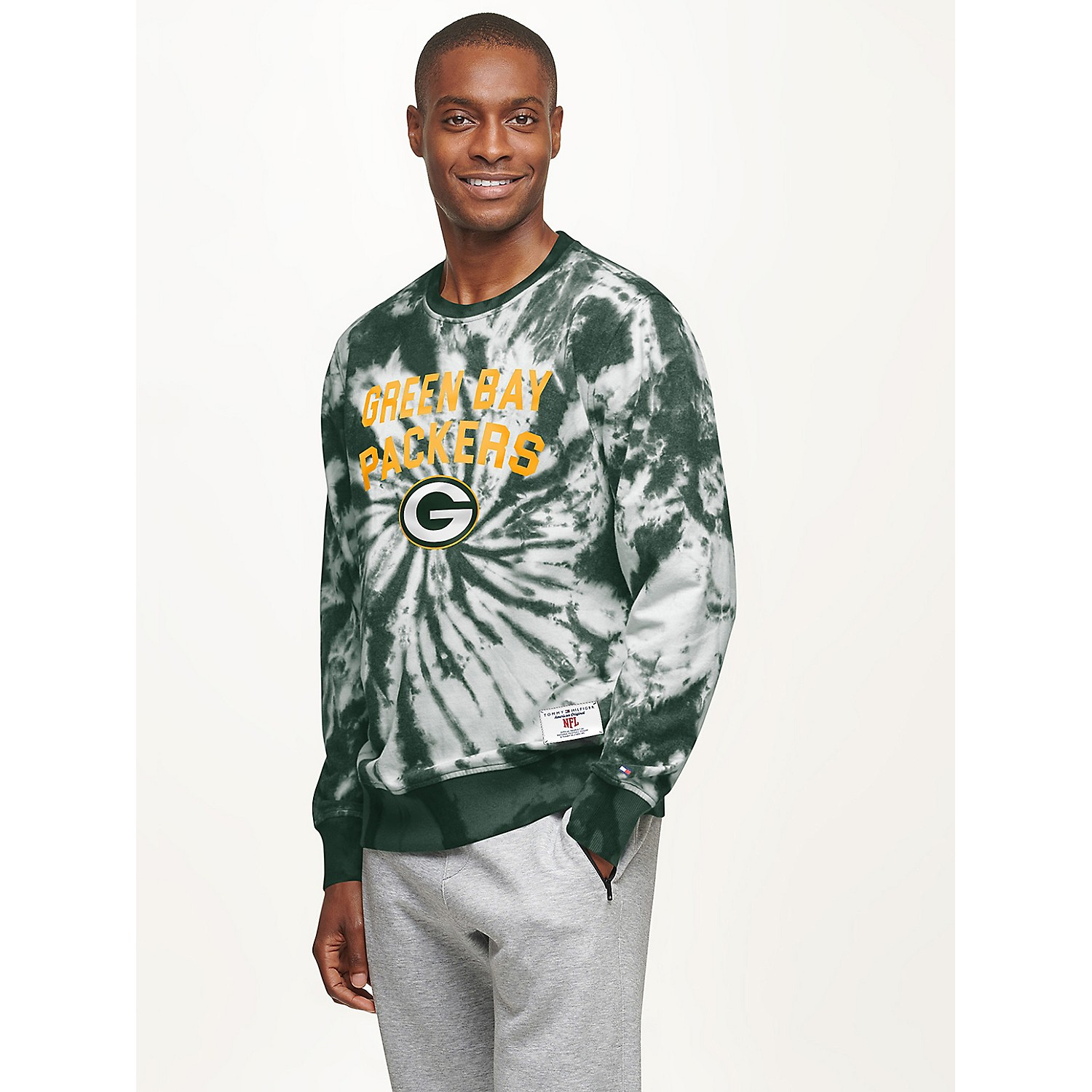 TOMMY HILFIGER Green Bay Packers Tie-Dye Sweatshirt
