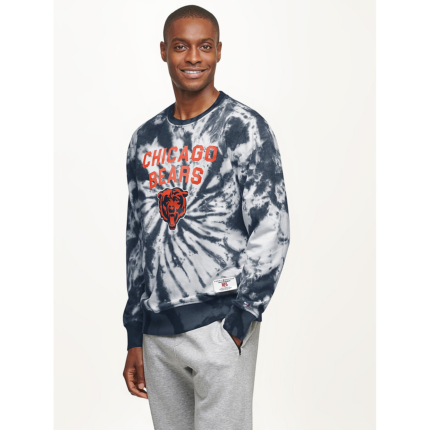 TOMMY HILFIGER Chicago Bears Tie-Dye Sweatshirt