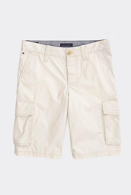 Tommy Hilfiger Boy's Adaptive Classic Cargo Short, Sand Dollar, 12