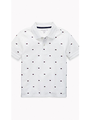 Tommy Hilfiger Kids Flag Polo (classic white)