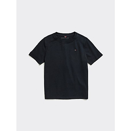 Tommy Hilfiger Boy's Adaptive Classic T-Shirt, Sky Captain, one size