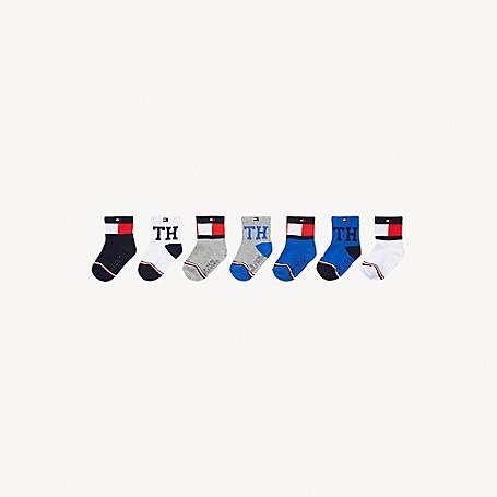 Tommy Hilfiger Baby Sock 7Pk, Multi - L/XL