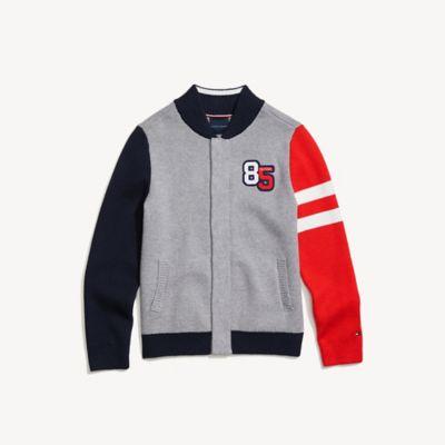 Tommy Hilfiger Boy's Adaptive 85 Sweater Academy Grey Heather - S