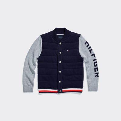 Tommy Hilfiger Boy's Adaptive Baseball Sweater Masters Navy - M