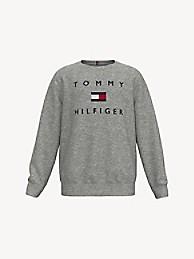 타미 힐피거 보이즈 스웻셔츠 Tommy Hilfiger TH Kids Tomy Logo Sweatshirt,grey heather