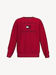 타미 힐피거 보이즈 스웻셔츠 Tommy Hilfiger TH Kids Tomy Logo Sweatshirt,apple red