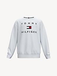 타미 힐피거 보이즈 스웻셔츠 Tommy Hilfiger TH Kids Tomy Logo Sweatshirt,bright white