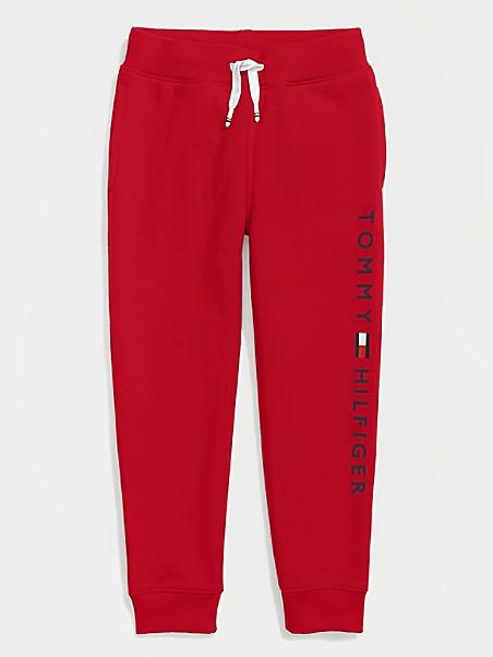 타미 힐피거 보이즈 조거팬츠 Tommy Hilfiger TH Kids Solid Logo Jogger,apple red