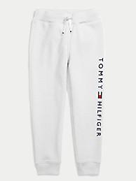 타미 힐피거 보이즈 조거팬츠 Tommy Hilfiger TH Kids Solid Logo Jogger,bright white