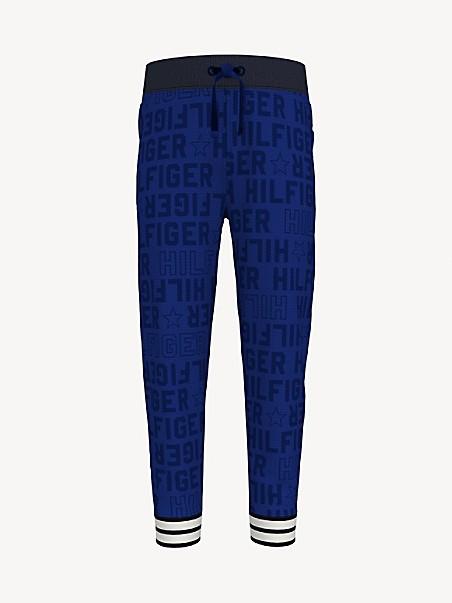 타미 힐피거 걸즈 팬츠 Tommy Hilfiger TH Kids Hilfiger Print Pant,platoon blue/ multi