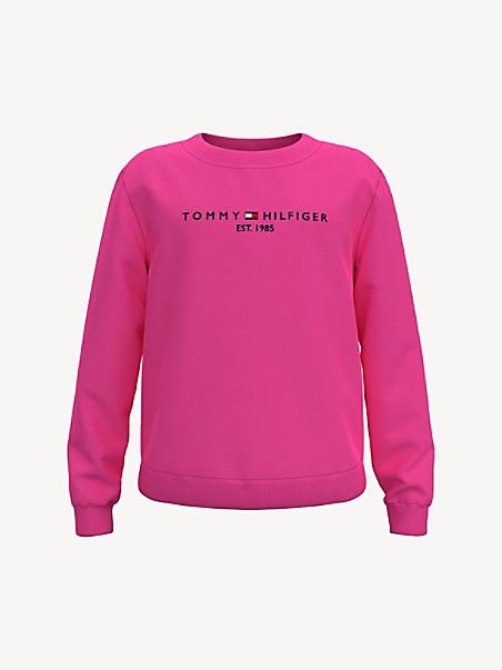 타미 힐피거 걸즈 스웻셔츠 Tommy Hilfiger TH Kids Logo Sweatshirt,pink passion