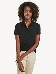타미 힐피거 폴로 셔츠 Tommy Hilfiger Regular Fit Essential Stretch Cotton Polo,TH DEEP BLACK