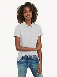 타미 힐피거 폴로 셔츠 Tommy Hilfiger Regular Fit Essential Stretch Cotton Polo,GREY HEATHER