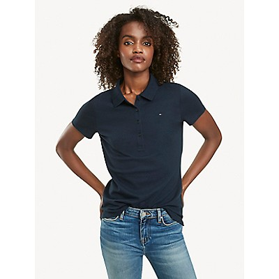 Regular Fit Essential Stretch Cotton Polo | Tommy Hilfiger