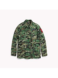 Tommy Hilfiger Camo Fieldjacket oliv | dress for less Outlet