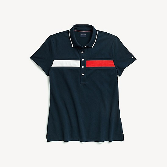 Tommy Hilfiger Mens Core Regular Polo Flag Black Time Clothing