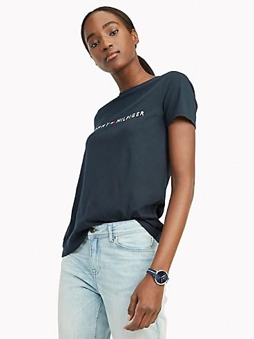 타미 힐피거 Tommy Hilfiger Essential Logo T-Shirt,SKY CAPTAIN