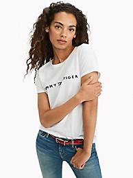 타미 힐피거 Tommy Hilfiger Essential Logo T-Shirt,BRIGHT WHITE