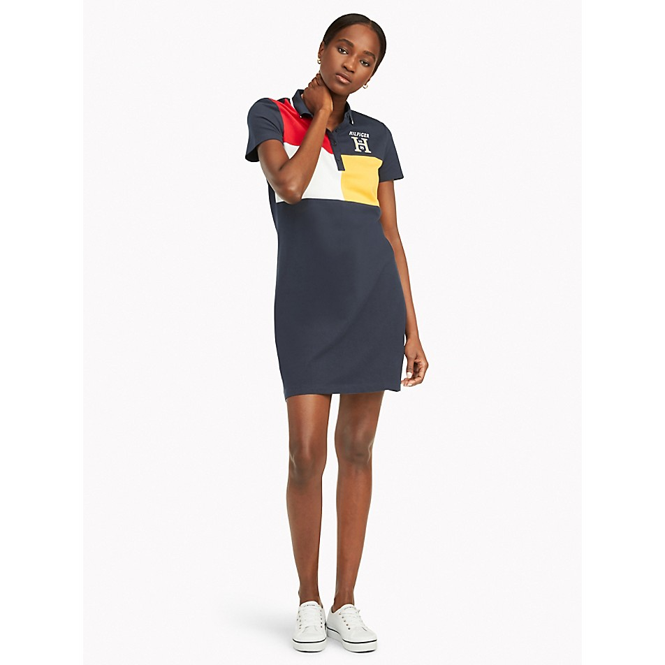 NEW Regular Fit Essential Colorblock Polo Dress