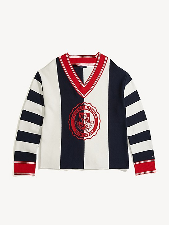 Tommy Hilfiger Men/'s Anchor Logo V-Neck Short Sleeve Graphic 100/% Cotton T-Shirt