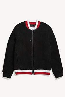 Tommy Hilfiger Women's Adaptive Icon Long Sleeve Crop Top T Shirt with Magnetic Buttons