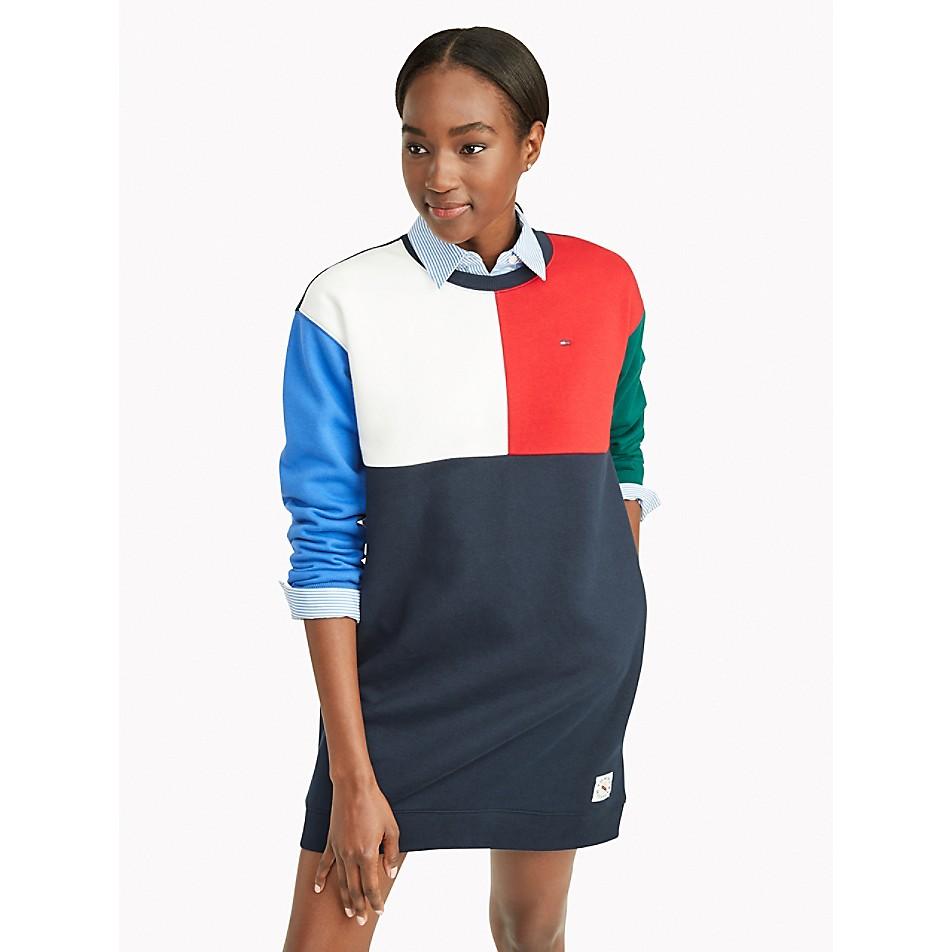 NEW Essential Colorblock Sweatshirt Dress