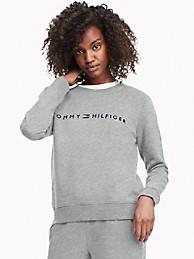 타미 힐피거 우먼 에센셜 로고 맨투맨 - 라이트 그레이 헤더 Tommy Hilfiger Essential Logo Sweatshirt 76a7089