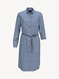 타미 힐피거 셔츠 원피스 Tommy Hilfiger Essential Stripe Shirtdress,NEBULAS BLUE